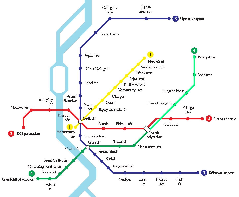budapest metróvonalai térkép Metrovonalak budapest metróvonalai térkép